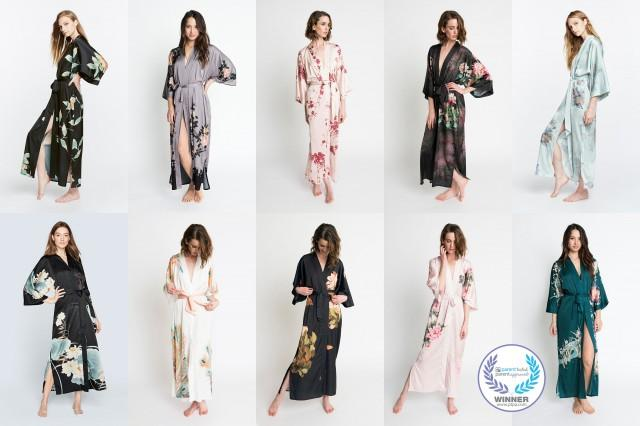 Kimono Robes (Multiple Designs) - Long
