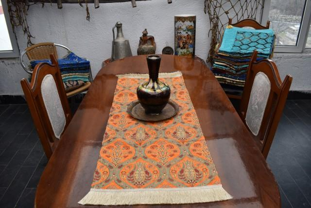 small size turkish table runner chenille fabric decorative table runner 17 inch x 39 inch bohemian decor colorful decorative table runners