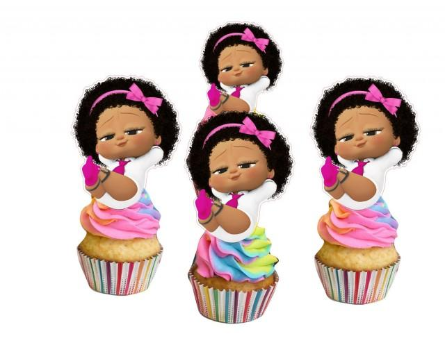 Baby Girl cupcake toppers,cakepop toppers,cupcake decors