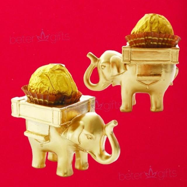 Elephant #CandyBox Golden Wedding #Doorgifts #diydecoration SZ040
