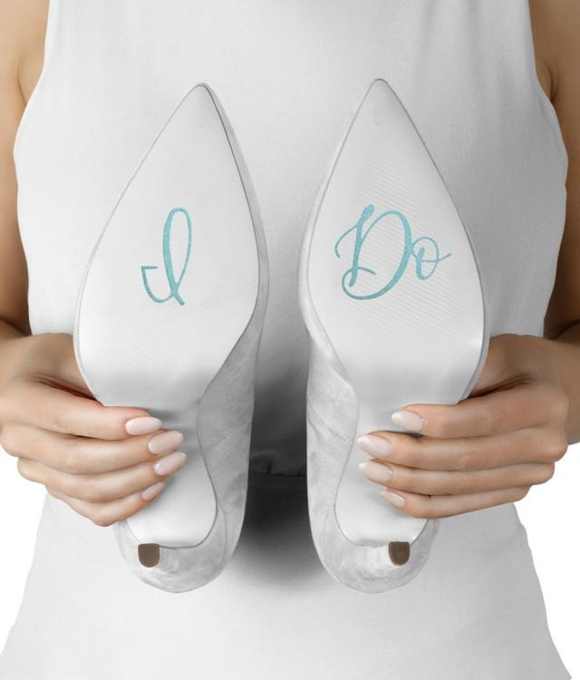 I Do Shoe Stickers, Something Blue, Shoe Decals for the Bride, Engagement Gift Bridal Shower Gift for the Bride to Be