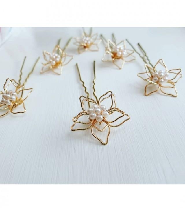 Bridal hair accessories bridesmaids hair pins