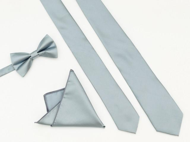DUSTYBLUE Wedding Tie, Men's Ties, Vintage Men's Tie, Dusty Blue Bow Tie, Groomsmen Tie, Dustyblue Dress Tie, Pocket Square Tie, Neck Tie
