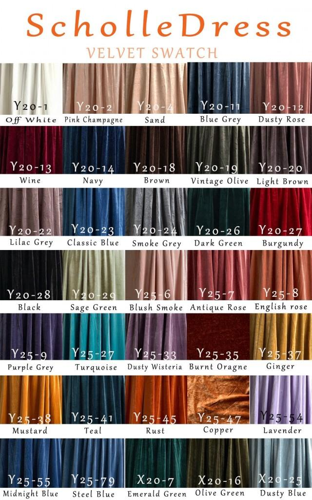 VELVET swatch FABRIC sample Free Shipping