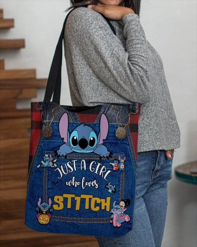 Stitch Tote Bag, Lilo and Stitch Tote Bag, Love Stitch Handbag, Stitch Ohana Tote Bag, Stitch Handbag, Stitch Shoulder Bag, Stich Lover Tote