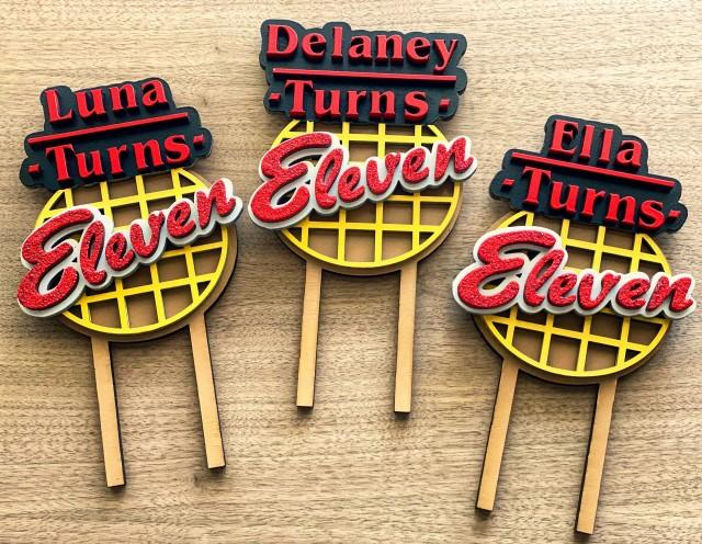 Stranger Things Cake Topper - Eleven Birthday - Personalized Cake Topper - Birthday Cake Topper - Stranger Things Birthday Theme