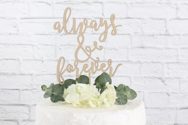 Always and Forever Wedding Cake Topper, Wedding Cake Topper, Always Forever Cake Topper, Rustic Cake Topper, Cake Topper, DIY Cake Topper