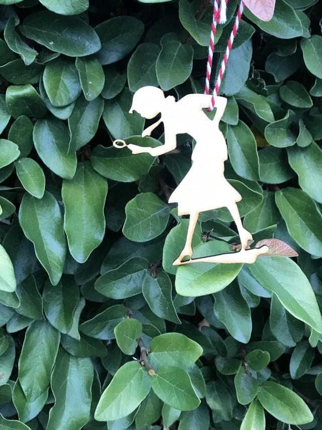 Vintage Nancy Drew Mysteries Silhouette Book Lover Literary Friend Librarian Inspired Laser Cut Wood Christmas Tree Ornament Decoration