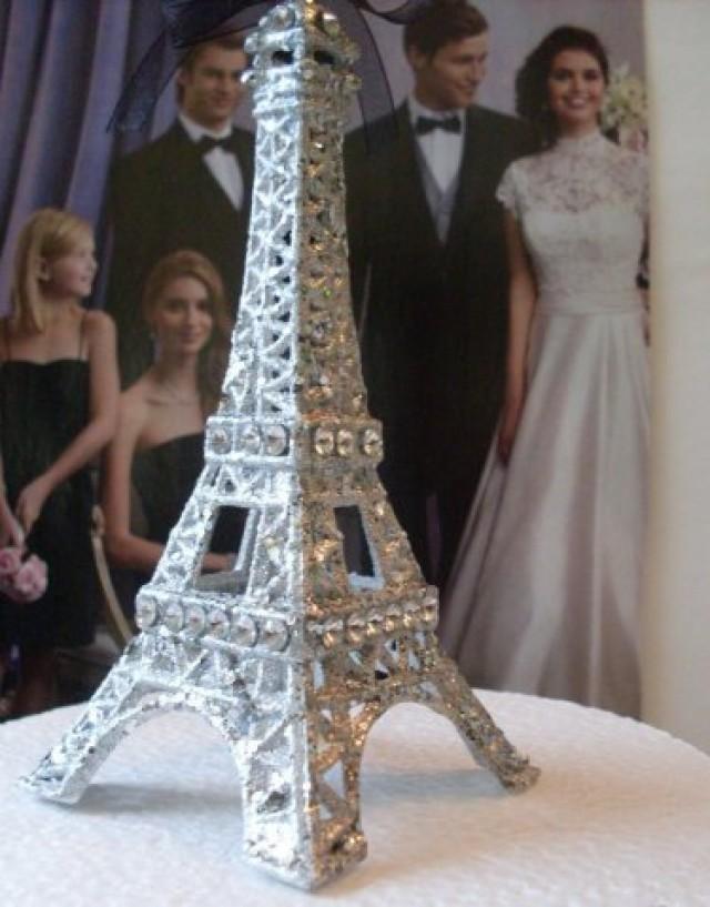 Cake Topper Glitter Eiffel Tower  Newburystreetchic cake topper