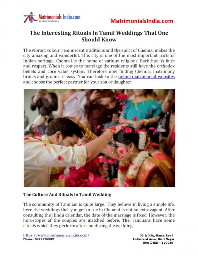 wedding photo - The Interesting Rituals In Tamil Weddings That One Should Know
