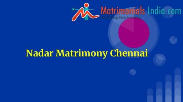 Nadar Matrimony Chennai