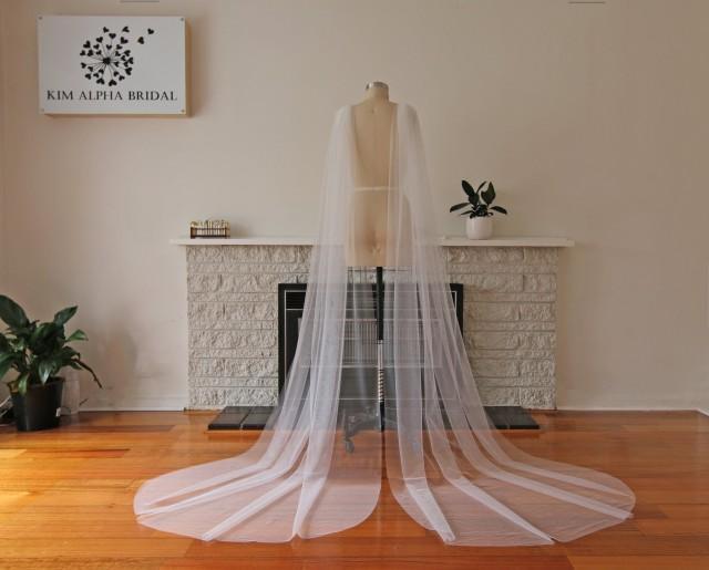 WINCY. Wedding tulle wings, tulle wings, long veil, custom made veil, bridal veil, wedding veil, made in Australia.
