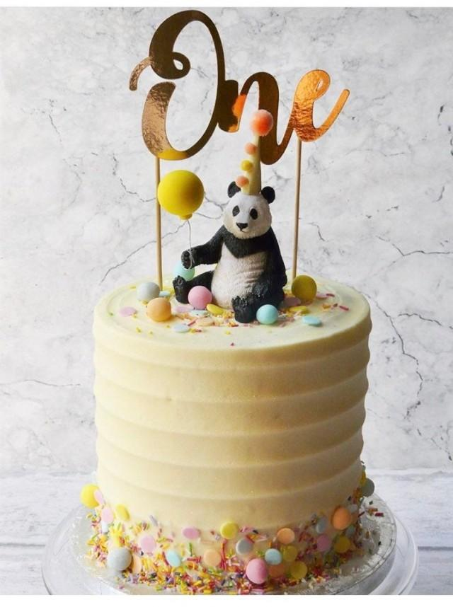 Panda Cake Topper-Party Animal-Cake Topper-Wild One-Two Wild-Jungle Party-Zoo Party-Zoo Animal-Animal Cake Topper-1st Birthday-2nd Birthday