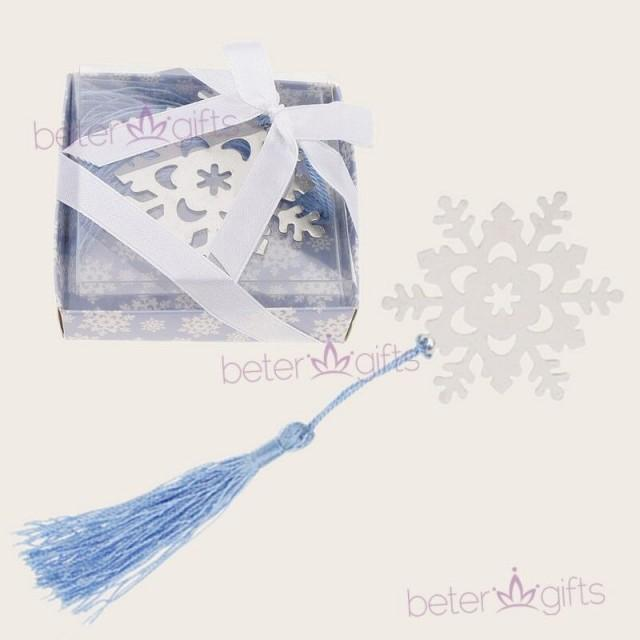 wedding photo - Birthday Snowflake bookmark #messiah #BabyShower Favors WJ049 #gifts