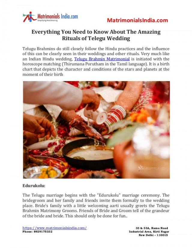 wedding photo - Everything You Need to Know About The Amazing Rituals of Telegu Wedding