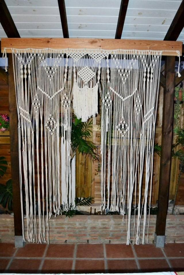 wedding photo - Macrame Wedding Backdrop, Large Wall Hanging, Wedding Arch, Macrame Wedding Photography, Wallknot.