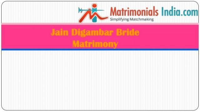 wedding photo - Jain Digambar Bride Matrimony