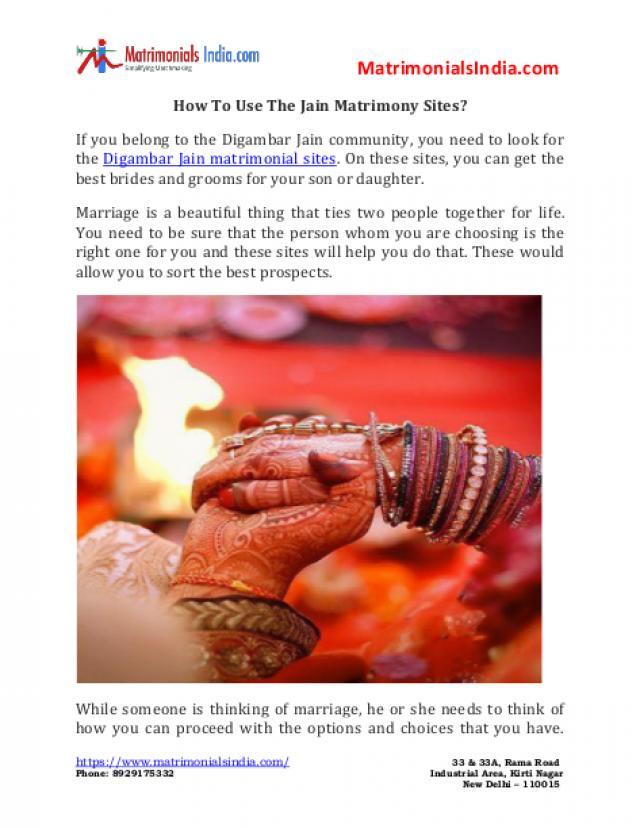 wedding photo - How To Use The Jain Matrimony Sites