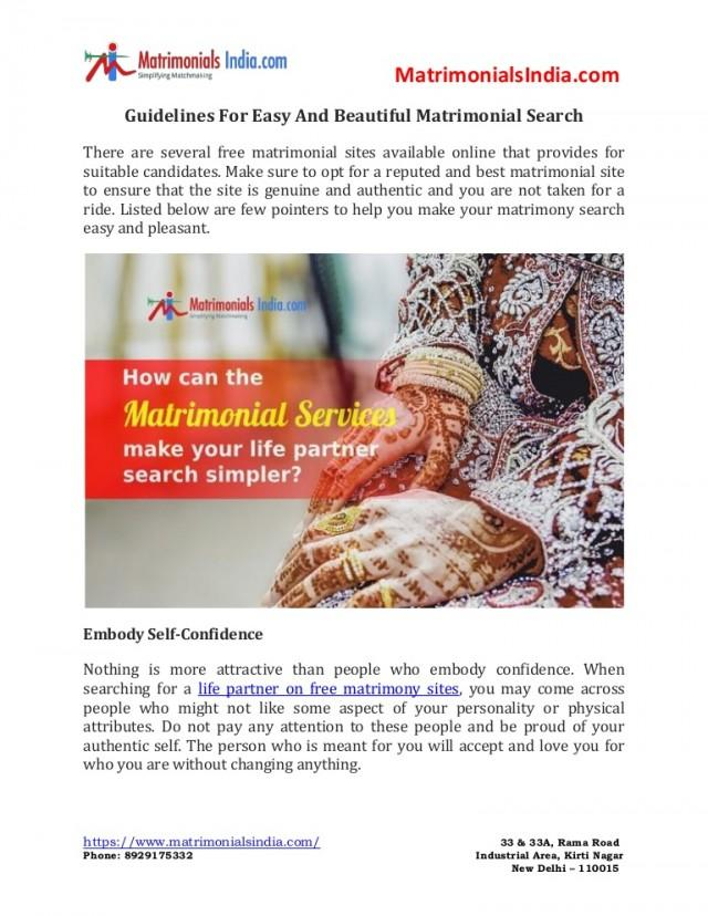 wedding photo - Guidelines For Easy And Beautiful Matrimonial Search