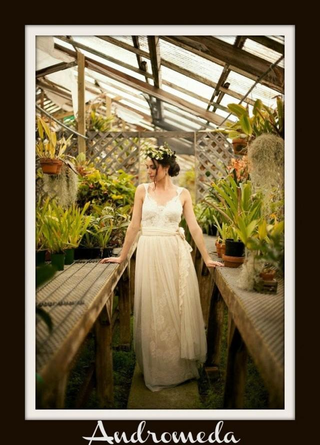 wedding photo - Boho Wedding Dress 'ANDROMEDA'