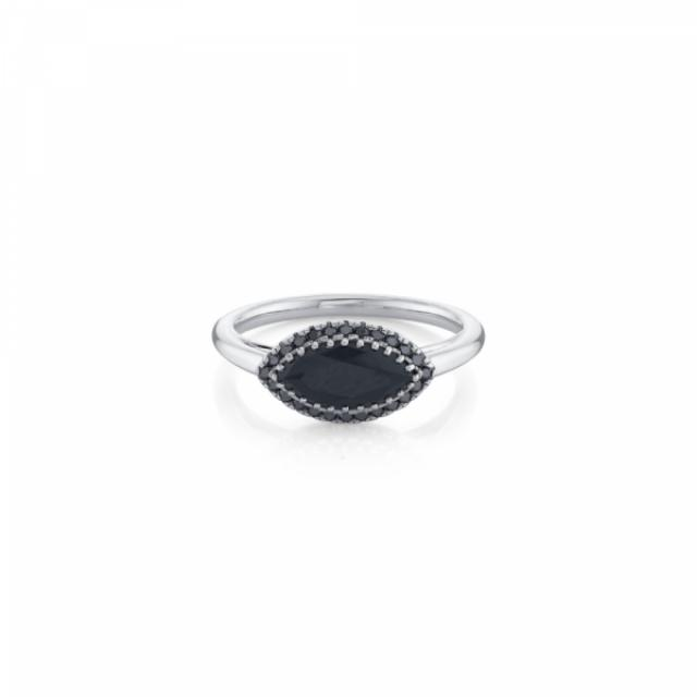 wedding photo - Perfect 5 Ct Big Black Diamond Ring