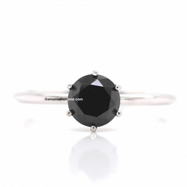 wedding photo - Attractive 6 Prong 1 Carat Diamond Ring