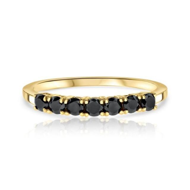 wedding photo - Attractive 0.50 Carat Small Black Diamond Ring