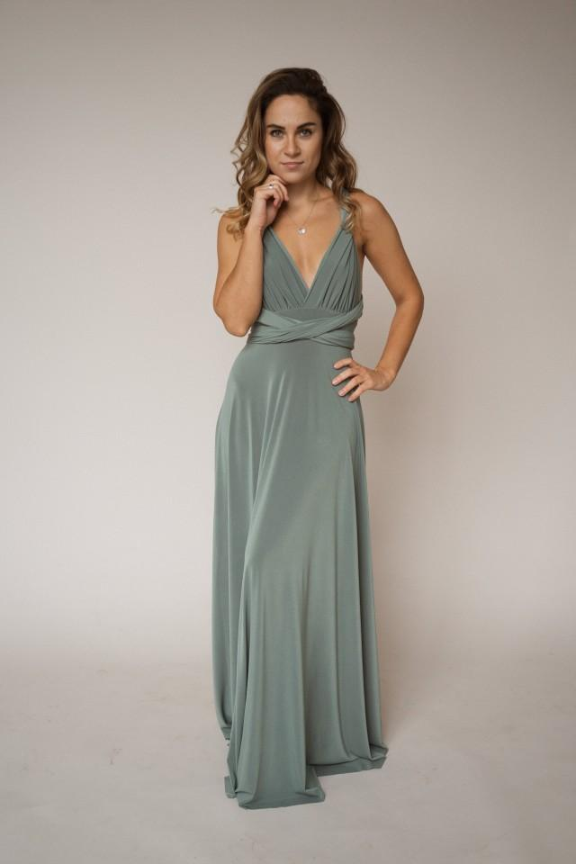 Sage green bridesmaid dress, moss green infinity dress, sage green convertible dress, moss green multiway dress, sage green bridesmaid dress
