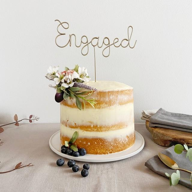 Engaged Cake Topper, Just Engaged, Getting Engaged, Engagement Party, Newly Engaged Gift, Engagement Party Decorations, We are Engaged