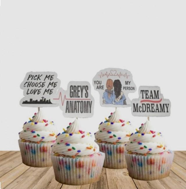 Grey's Anatomy Cupcake Toppers