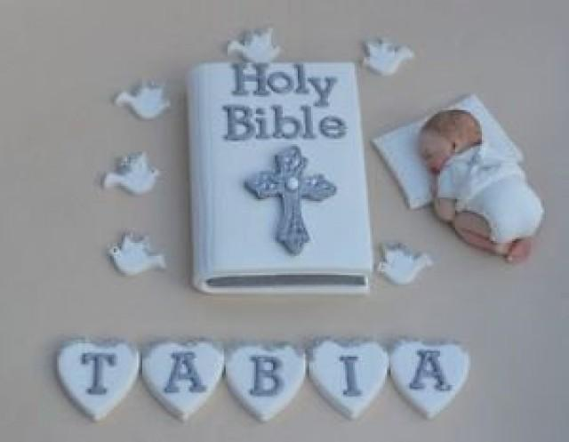 Personalised edible baby boy Christening Baptism cake decoration. Edible  baby cake topper.  Baby boy cake topper. Baptism cake topper.