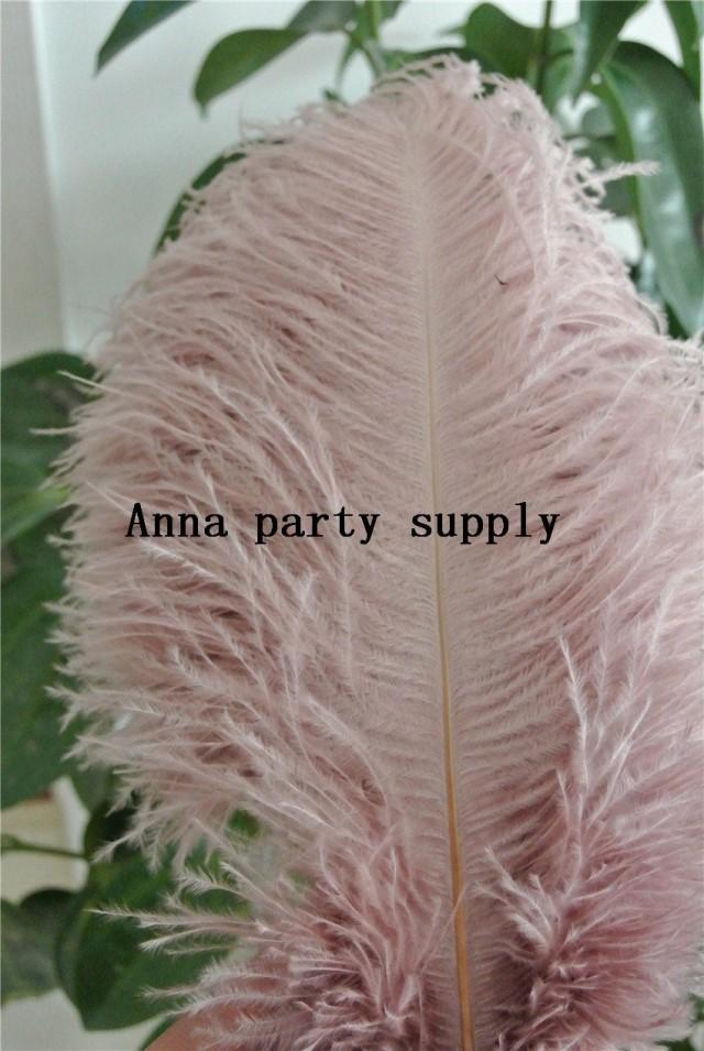 50 pcs blush pink ostrich feather plume for wedding party supply decor wedding centerpiece