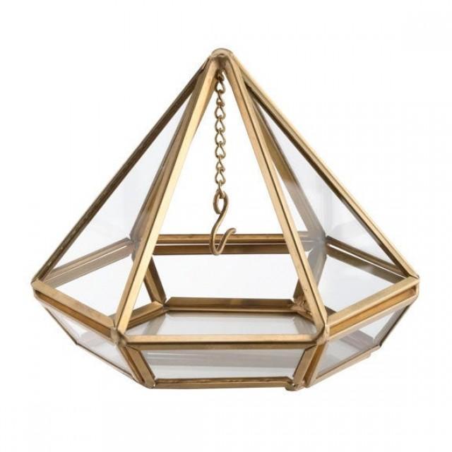 The door rings terrarium prism gold or copper