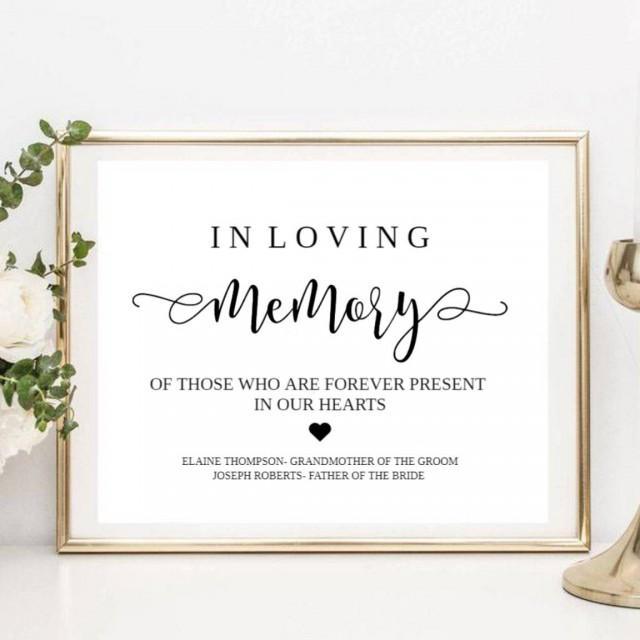 Loving Memory Sign, Memorial Sign, Wedding Memory Sign, In Loving Memory, Memory Sign, Loved Ones Sign, Memorial Printable, Wedding Memorial