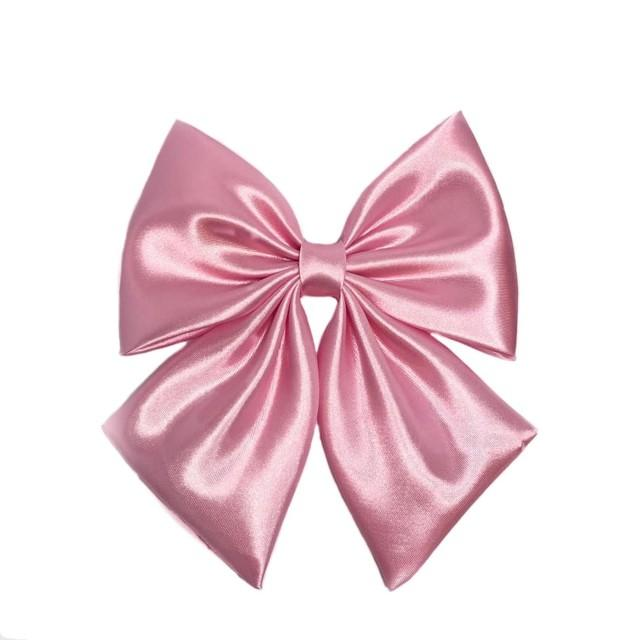 Pink Hair Bow For Women, Large Pink Bow, Pink Bow For Girls, Big Bows, Pink Bow, Fabric Bows, Satin Pink Bows, Pink Barrette Bow, Hair Bows