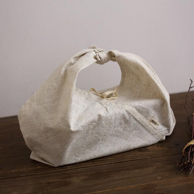 100 pieces Personalize LOGO rectangular base lunch bent box cotton linen bag wedding favor gift packaging reusable bag- xyhk48