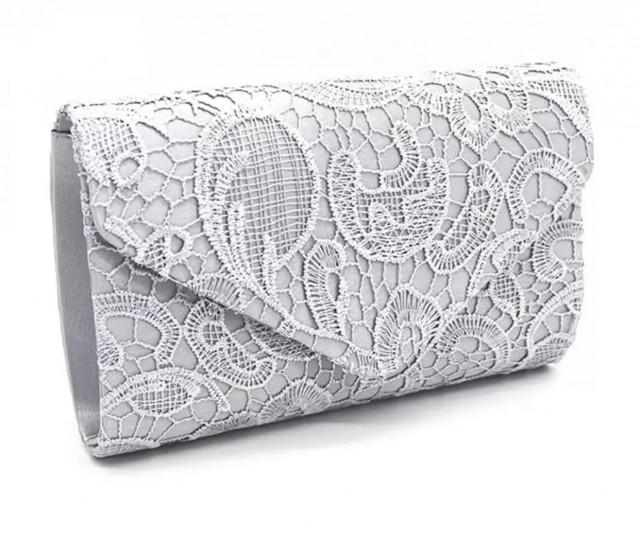 Beautiful Vintage Inspired Bridal Lace Envelope Clutch Bag, Bridal Bag, Wedding Bag, Party or Event Clutch Bag - Various Colours