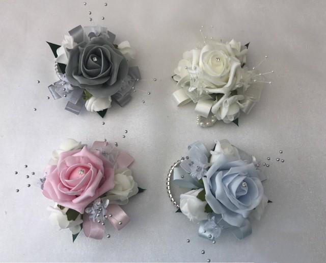 Wedding or prom wrist corsage on bracelet