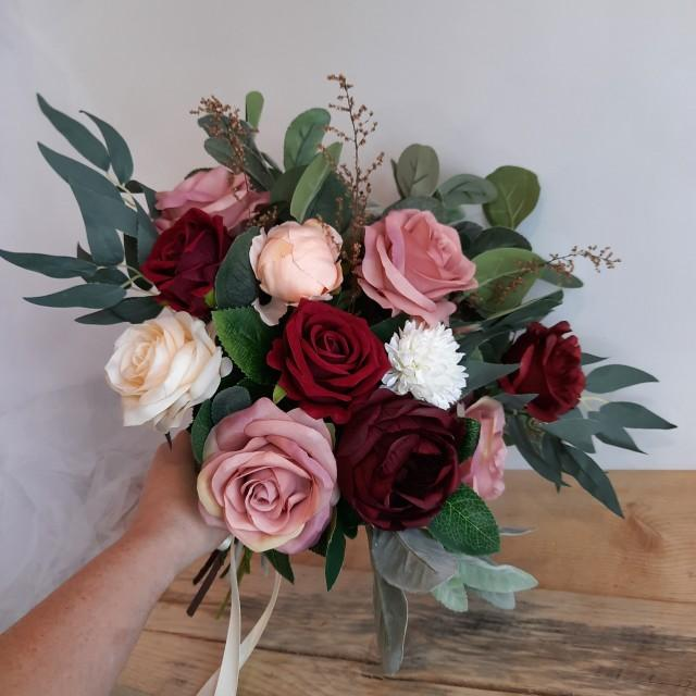 Bridal bouquet Bridesmaid bouquet Wedding bouquet Burgundy wedding bouquet  Boho bouquets Boho wedding Bride bouquets