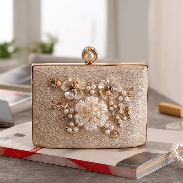 Pearl Clutch,Beaded Clutch,Evening Bag,Wedding Clutch,Bridal Clutch,Gold Clutch,Silver Clutch,Luxury Clutch,Vintage Clutch,Baroque Clutch