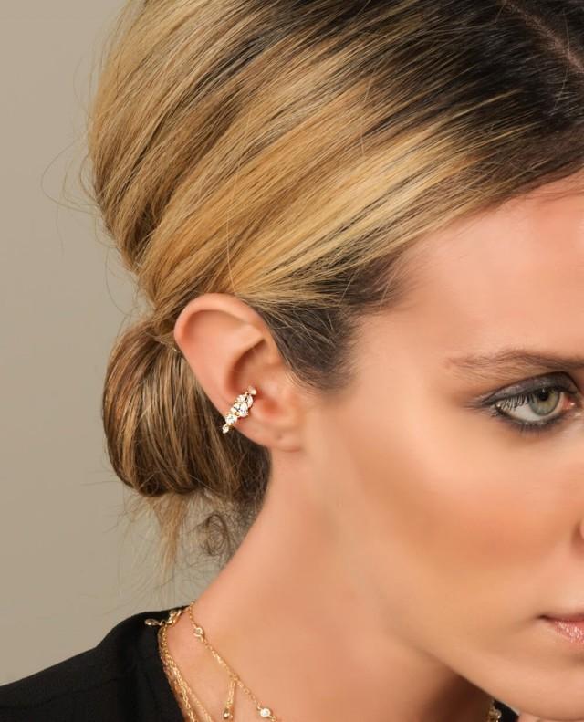 SILVER ear cuff, Ear cuff, ear cuff no piercing, Fake piercing, Ear cuffs, wedding earrings, Ear Cuff, No Piercing, cuff earrings, cuffs