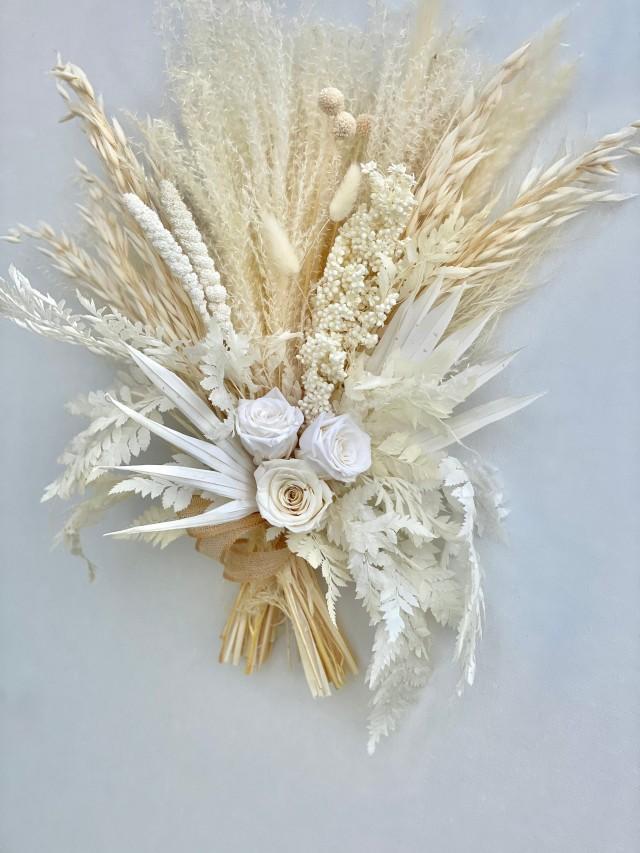Dried Flower Bouquet - Pampas Grass Bouquet -Boho Bridal Bouquet-Boho Floral Arrangement-Boho  Bouquet Wedding