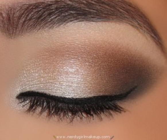 gorgeous nude smokey eye makeup natural wedding makeup 891913 weddbook. Black Bedroom Furniture Sets. Home Design Ideas
