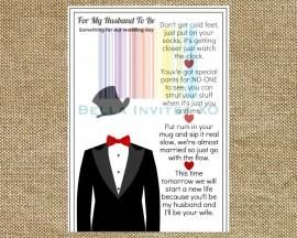 Wedding - Groom Gift Idea, Wedding Day Gift for Groom, Wedding Day Card for Groom, DIY  Printable wedding card, 5X7 INSTANT DOWNLOAD