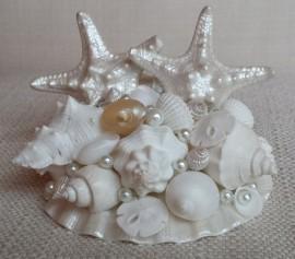 Wedding - Beach Wedding Cake Topper, Starfish Cake Topper, Seashell Cake Topper, Shell Cake Topper, Beach Wedding Decor, Beach Decor