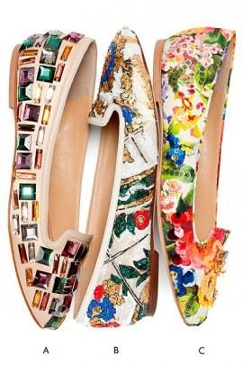 Wedding - Tendance Chaussures - The New Florals - Dolce & Gabbana Ballet Flats 2014... - FlashMag - Talent, Fashion & Lifestyle