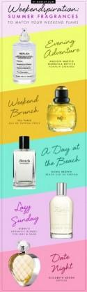 Weekendspiration: 5 Summer Fragrances to Match Your Weekend Plans