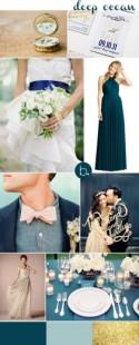Deep Ocean inspiration for twobird bridesmaid