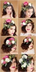 Lush Floral Wedding Hairstyles
