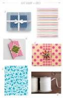 Stationery A-Z: Bright + Colorful Gift Wrap